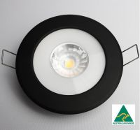 Saturn 60 Black (CS-series) nonglare downlight with white cable/round connector and external driver
