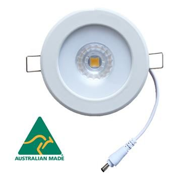 Saturn 60 (CS-series)  nonglare downlight with white cable/round connector and  external driver